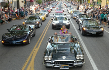 Corvettes Parade in Historic Downtown Carlisle